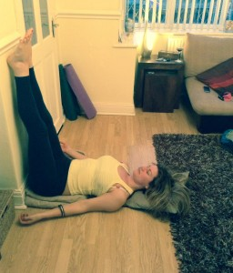 put your feet uprestorative yoga pose to help